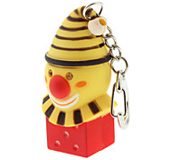 ABS Christmas Clown Shaped Keychain with LED & Voice