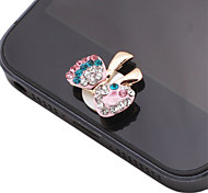 Bowknot Shaped Colorful Zircon Alloy Button Sticker(Assorted Color)