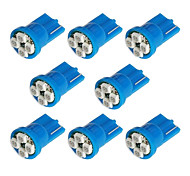 8x T10 194 168 501 4-smd 3528 LED Car Light Bulb Blue