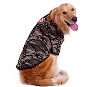 Camouflage Pattern Big Dogs T-Shirt for Dogs (S-XL)
