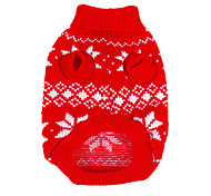 Dog Sweater Red Dog Clothes Winter Snowflake Christmas / New Year's