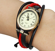 Women's Vintage Elliptical Dial Plaited Band Bracelet Watch (Assorted Colors)