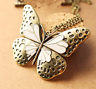 Heavy Enamel Butterfly hollow retro palace sweater chain necklace N511