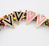 Doubles boucles d'oreille de triangle de couleur (couleurs assorties)