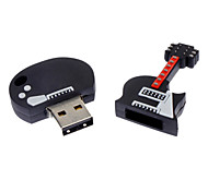 16GB de goma Negro Violín USB Flash Drive Soft