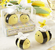Mommy and Me Sweet as Can Bee Ceramic Honeybee Salt and Pepper Shakers