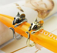 Women's Korean Cute little mouse ring (random color)