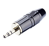 3.5mm Stereo Welding Adapter Male Gold-Plated OD7.2mm for Musical
