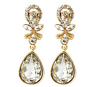 Alloy Rhinestone Water-Drop Earrings(Assorted Color)