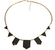 Irregular Black Enamel Necklace