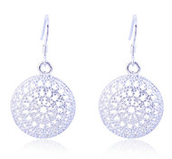 Lureme®925 Sterling Silver Plated Vintage Hollow Alloy Earrings