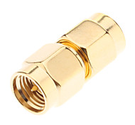 BNC SMA-M to SMA-M Radio Antenna Adapter Gold-plated