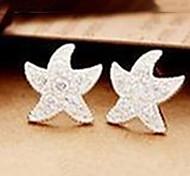 Women's  New Full Diamond Starfish Earrings E524