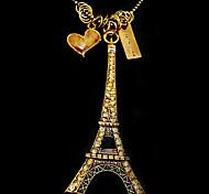Eiffel Tower sweater chain Korean jewelry fashion N120