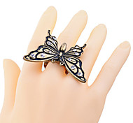Lureme®Retro Crystal Butterfly Rings