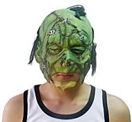 Cicatriz Verde Máscara Facial com tampa da cabeça para festa à fantasia de Halloween