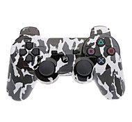 Black and White Camouflage Dual-Shock Bluetooth V4.0 Wireless Controller for PS3