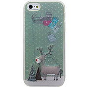 New Sense Call Flash Light LED Cute Elk Color Changing Case Cover for iPhone 5