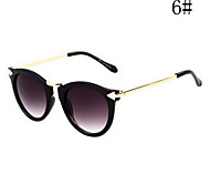 Women's Coffee & Purple Lens Black & Blue & Brown & Purple & Red Frame Cat Eye & Round Sunglasses
