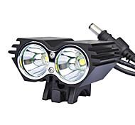 Luz Frontal para Bicicleta X2 2xCree XM-L U2 2000 Lúmens LED 4 Modos LED
