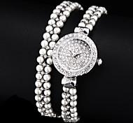 diamante pérola de discagem banda quartzo analógico pulseira relógio das mulheres (cores sortidas)