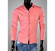 Casual Colore Camicia a maniche lunghe UOMO Pure