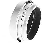 2-in-1 Metal Lens Shade & Filter Adapter Ring for Fuji X100 Camera (Silver)