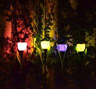 luci di paesaggio giardino del tulipano design solare led / prato (4 pezzi)