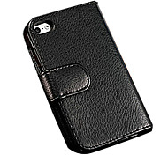 Durable Pu Leather Wallet Full Body Case for Iphone 4/4S with 7 Card Holders