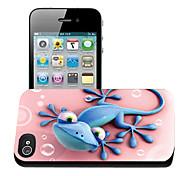 geco modello caso effetto 3d per iphone4/4s