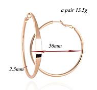 Earring Hoop Earrings Jewelry Women Gold Plated Gold / Rose / Silver