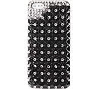 Black Diamond Punk Jewelry Covered Back Case for iPhone 5/5S