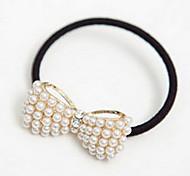 z&x® cuerda lindo anillo de pelo del bowknot de la perla del todo-fósforo