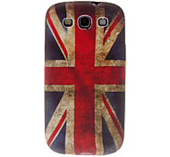Inglés bandera caso duro del patrón para Samsung Galaxy S I9100