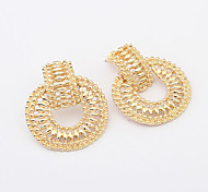 Hollow Round Drop Earrings