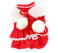 Dog Dress Red Winter Classic Christmas / New Year's