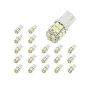 10 x T10 20-SMD 1210 White LED Car Lights Bulb 194 168 2825 W5W