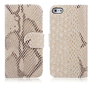 Snakeskin Grain Leather Case für iPhone 4/4S