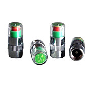 4pcs/set Car Tire Pressure Monitor Valve Stem Cap Sensor Indicator Eye Alert