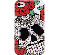 Rose Skull Back Case voor iPhone 4/4S