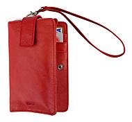 красные Бразилии импорт полный зерна крышку многофункционального Защитные ПУ кожаный чехол для iphone 4/4S