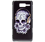 Skull with Headphone Pattern Hard Case for MOTO XT890 (RAZR i)