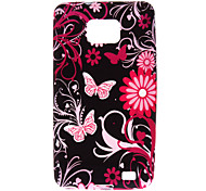 Colorful Flowers And Butterflies Pattern Hard Case for Samsung Galaxy Sii I9100