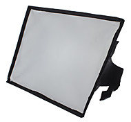 20 x 30 cm Portable Flash SoftBox Diffuser for 600EX 580EX 430EX SB-910 SB-900 SB-700  HVL-F58AM  F42AM (Black)