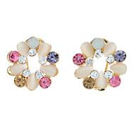 Korea Style Multicolor Opal Stud Earrings