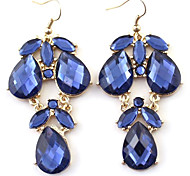 LY Faceted Gemstone Drop Earring