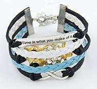 Women's Charm Bracelet Alloy/Leather Rhinestone