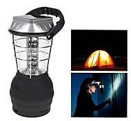 36 LED lumière blanche LED de manivelle Lanterne de camping solaire lampe avec chargeur