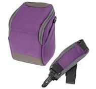 B-01-PL Purple Crossbody un hombro bolso de la cámara para la cámara de DSLR