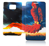 Fire Eagle Leather Case for Samsung Galaxy S2 I9100